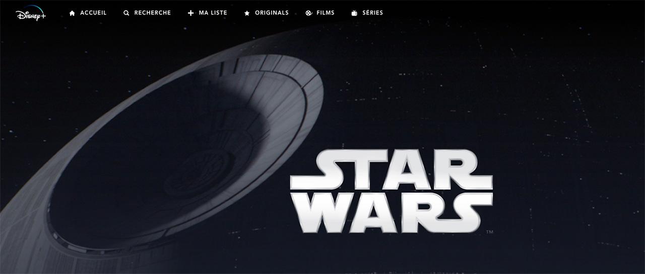 Collection Star Wars, Disney+France
