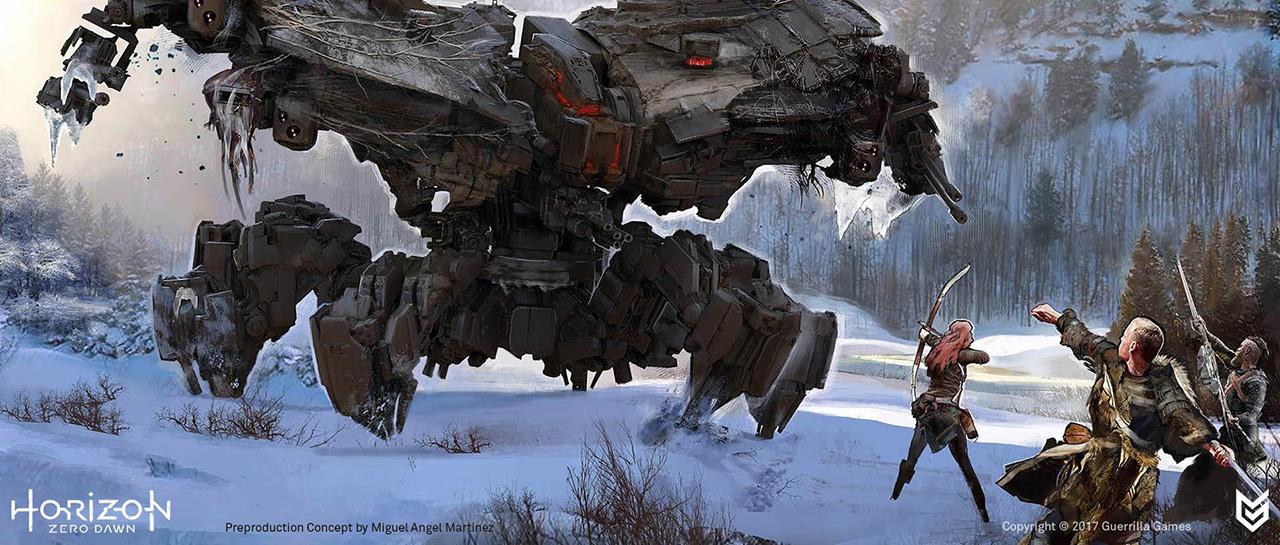 Horizon : Zero Dawn, Concept Art (Guerilla Games, 2017, Sony Interactive Entertainment)