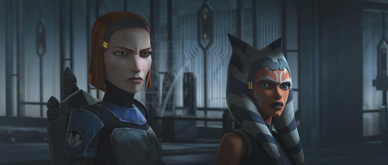 Bo-Katan (Katee Sackhoff) et Ahsoka Tano (Ashley Eckstein) - Star Wars Rebels (Dave Filoni)