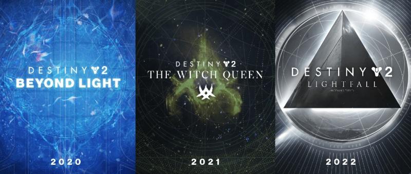 Destiny 2 - Expansions Roadmap / Calendrier DLC - Beyond Light - The Witch Queen - Lightfall