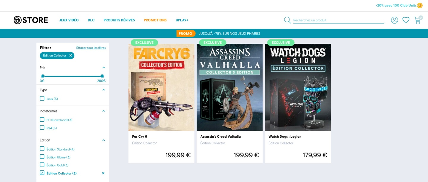 Ubisoft Store - No Physical Xbox One Collector Edition in Europe - Far Cry 6 - Assassin's Creed Valhalla - Watch Dogs Legion