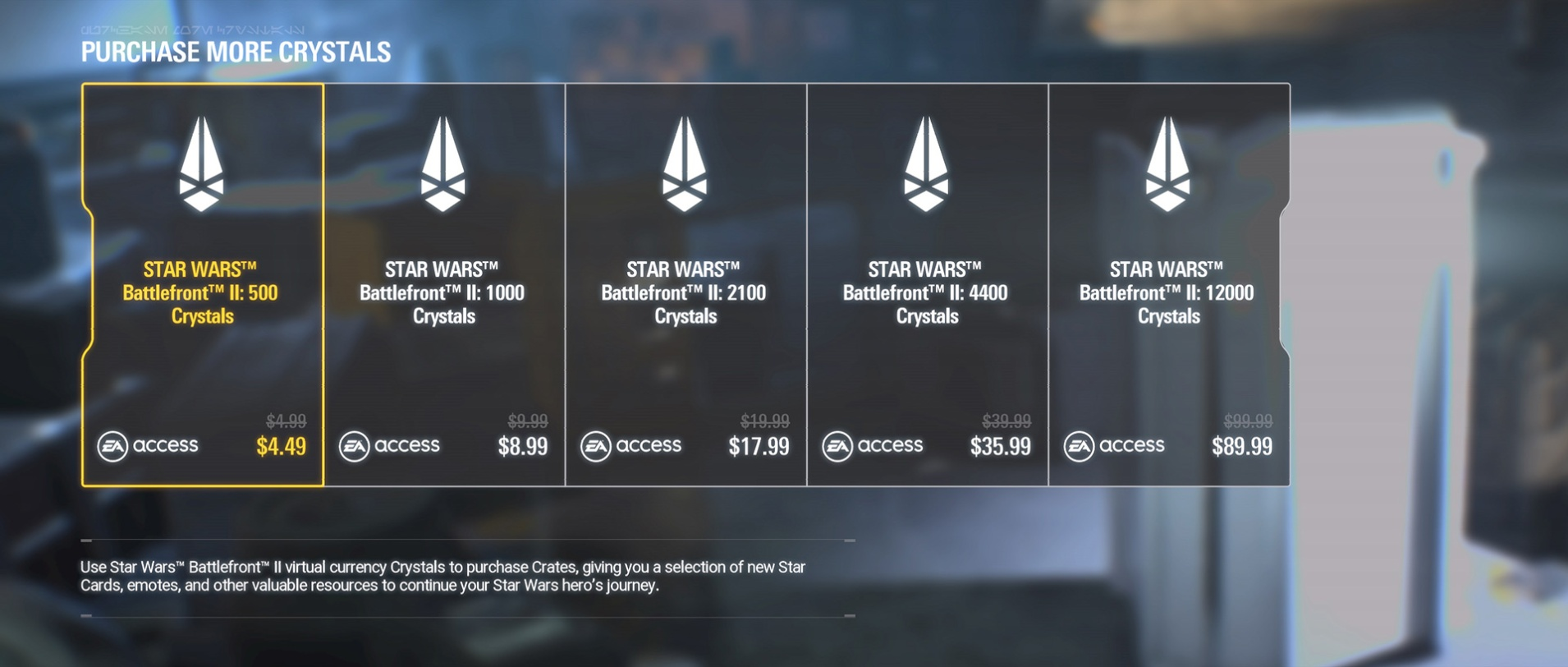 Star Wars Battlefront 2 - Loot Box (Screenshot : Ars Technica)