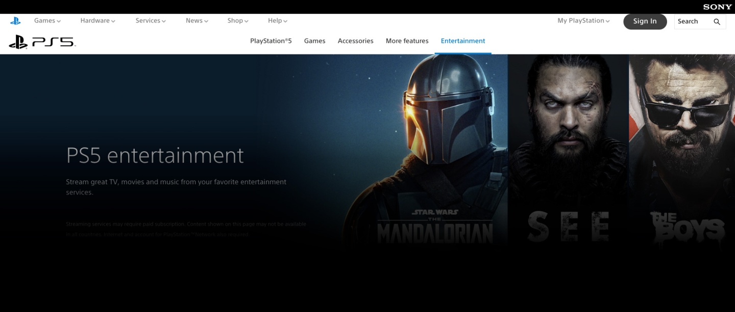 Playstation Store - Entertainment Video VOD Streaming